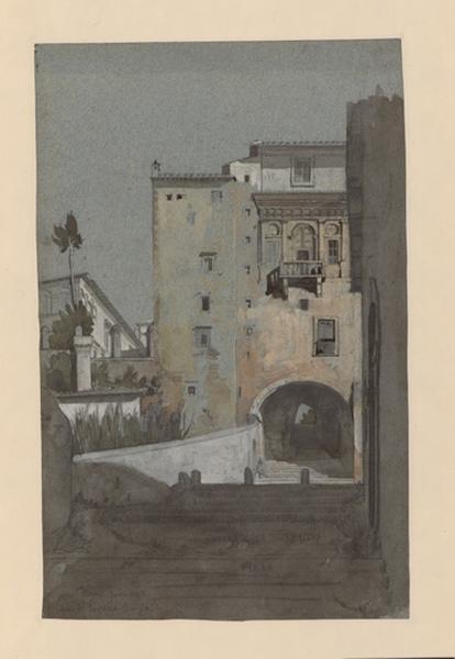 LENEPVEU Jules Eugène (dessinateur) : Maison de Lucrèce Borgia à Rome