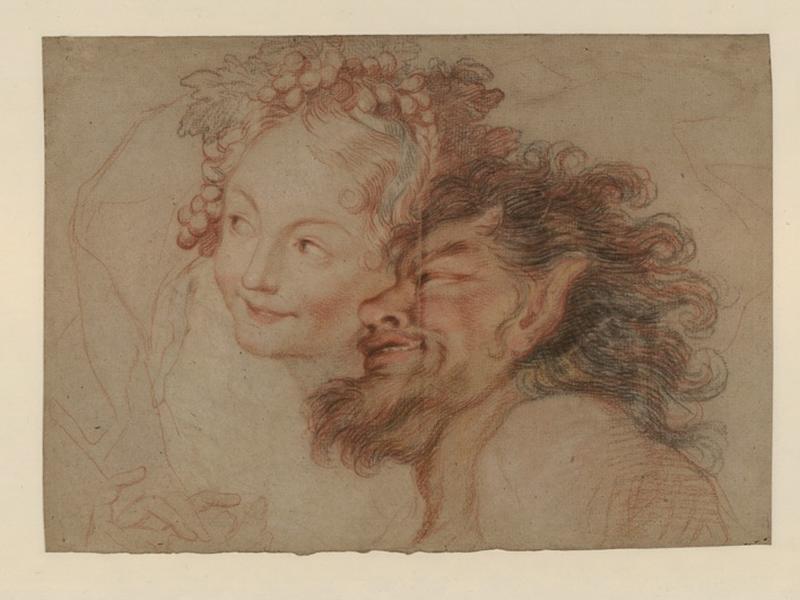 Nymphe et satyre (Etude pour Bacchus et Ariane)_0