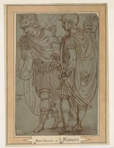 anonyme (peintre), VANNUCCI Pietro (d'après), LE PERUGIN (dit) : Soldats romains, Deux guerriers