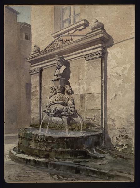 Fontaine de Nostradamus à Saint-Rémy-de Provence_0