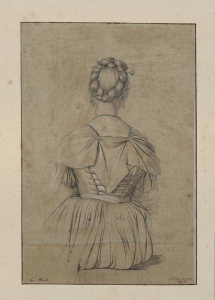 BODINIER Guillaume (dessinateur) : Femme assise vue de dos