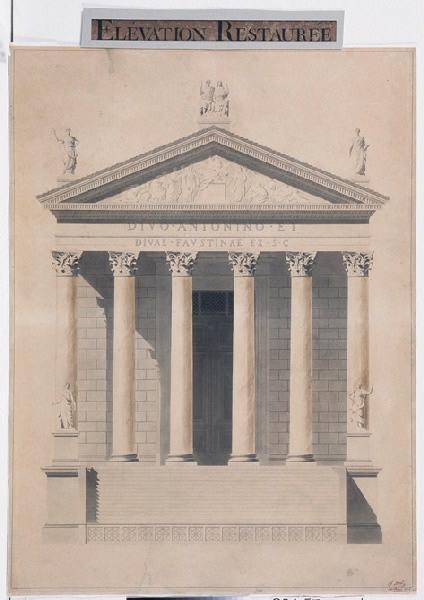 Elévation restaurée du temple d'Antonin et Faustine_0