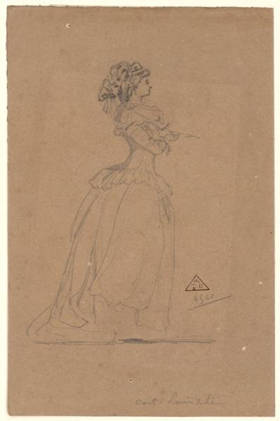 anonyme : Costume de dame époque Louis XVI