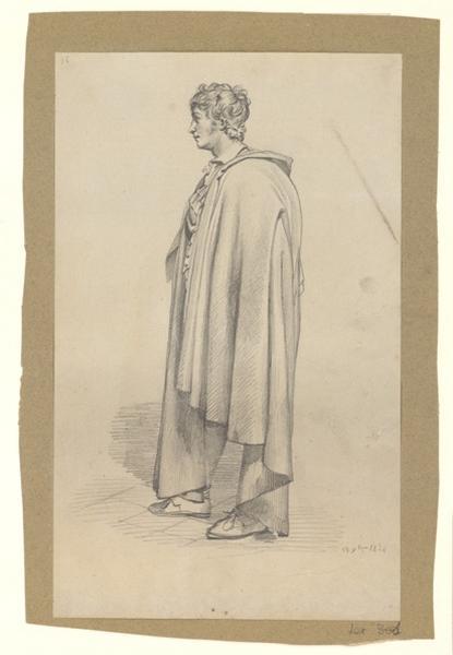 BODINIER Guillaume (dessinateur) : Jeune homme drapé (inventaire)