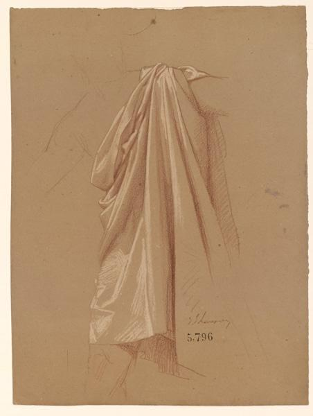 Figures pour la peinture murale de la chapelle Sainte Marie ; Etude de draperie_0