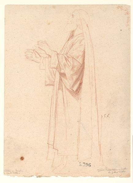 Figures pour la peinture murale de la chapelle Sainte Marie ; Présentation au Temple : le grand prêtre_0