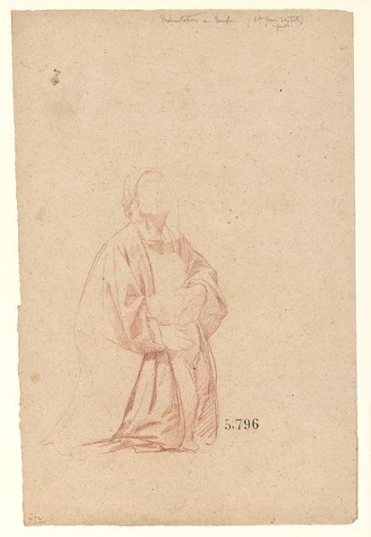 Figures pour la peinture murale de la chapelle Sainte Marie ; Etude pour saint Jean-Baptiste