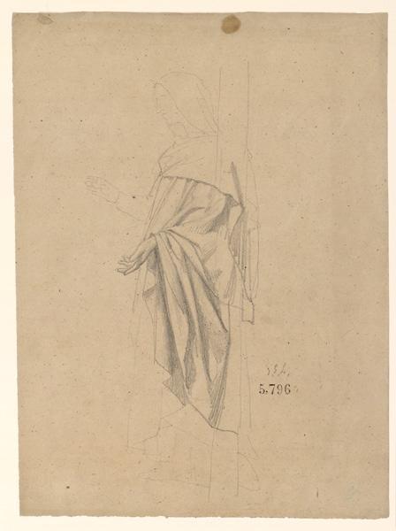 Figures pour la peinture murale de la chapelle Sainte Marie