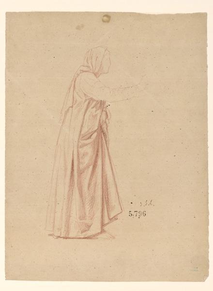 Figures pour la peinture murale de la chapelle Sainte Marie ; Etude pour sainte Elisabeth, la Visitation