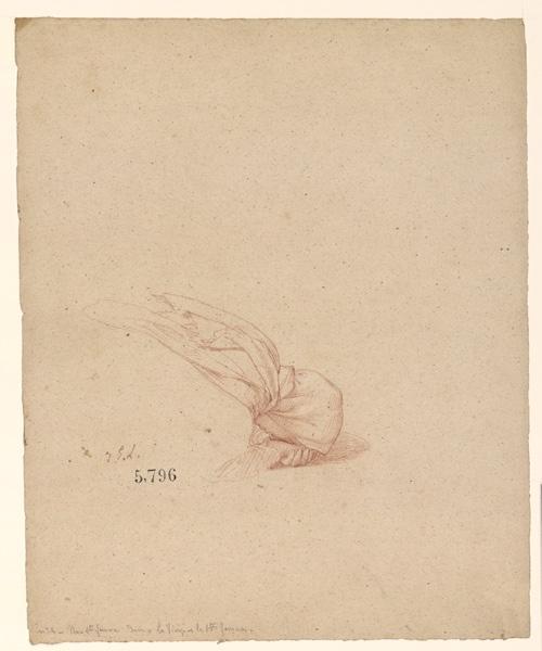 LENEPVEU Jules Eugène (dessinateur) : Figures pour la peinture murale de la chapelle Sainte Marie, Une sainte femme