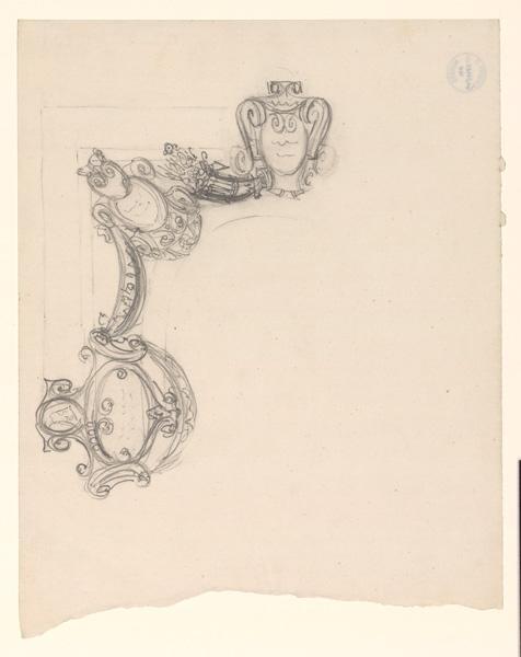 LENEPVEU Jules Eugène (dessinateur) : Motifs décoratifs pour un plafond