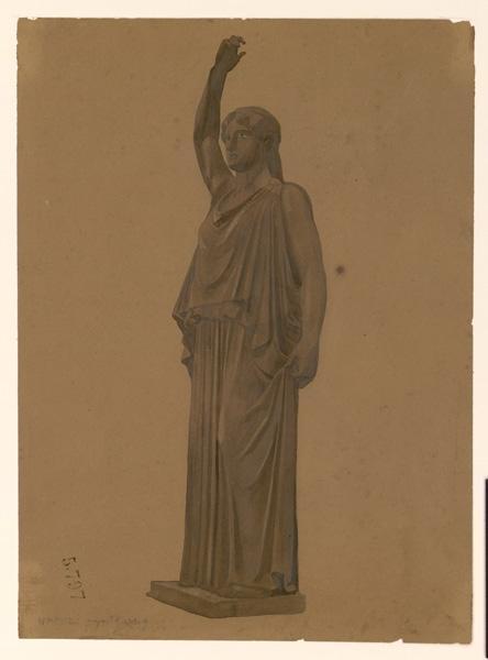 Une sculpture antique représentant une femme_0