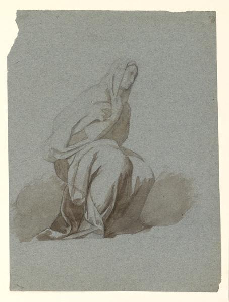 Etude de femme à genoux ; Eglise de Jésus à Rome
