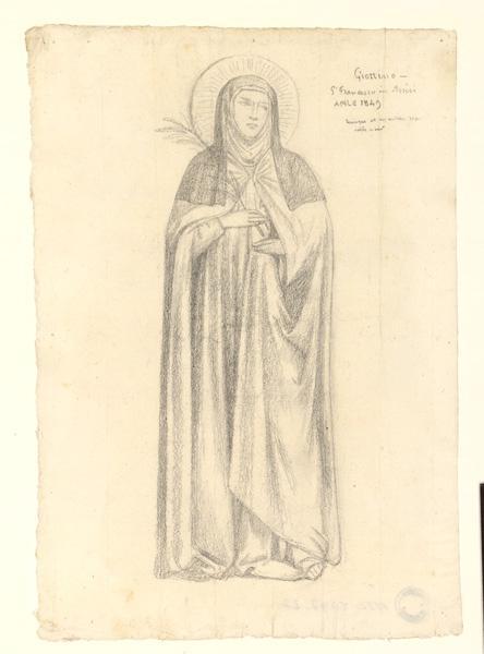 Copie d'une sainte d'après Giotto