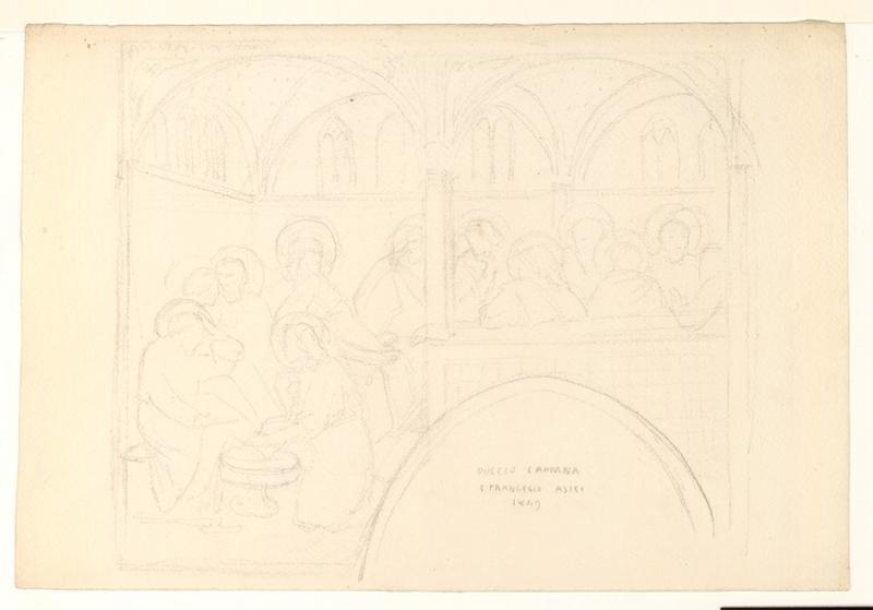 LENEPVEU Jules Eugène (dessinateur) : Etude des fresques d'Assise