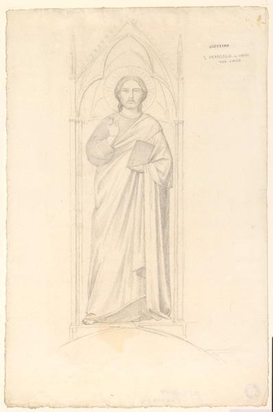 LENEPVEU Jules Eugène (dessinateur), GIOTTO (d'après) : Etude des fresques d'Assise