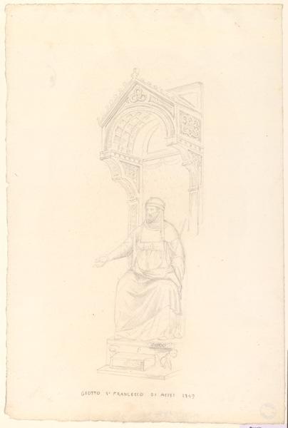 LENEPVEU Jules Eugène (dessinateur), GIOTTO (d'après) : Copie d'après Giotto