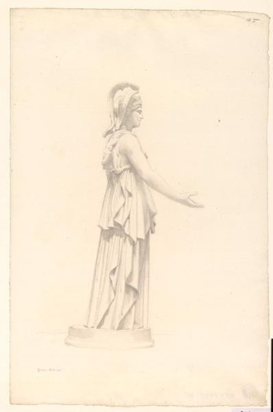 LENEPVEU Jules Eugène (dessinateur) : Etude d'une sculpture à Gênes