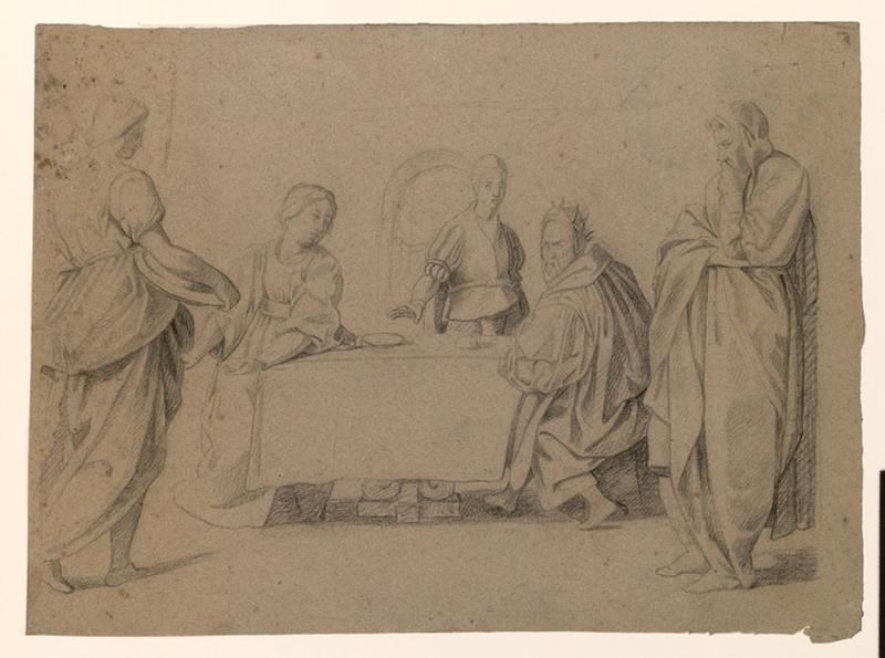 Personnages autour d'une table