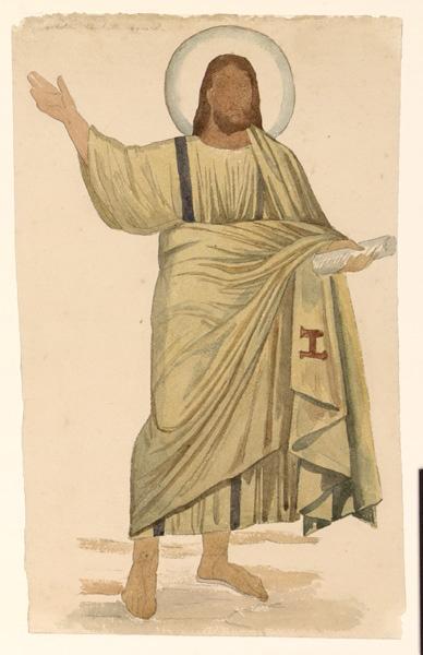 Copie d'après un Christ à la main levée