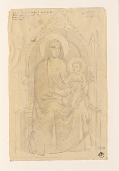 Monuments, figures : Vierge à l'enfant d'après Giotto_0