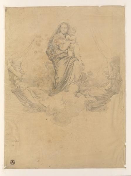 Monuments, figures : Etude d'une Vierge à l'enfant_0
