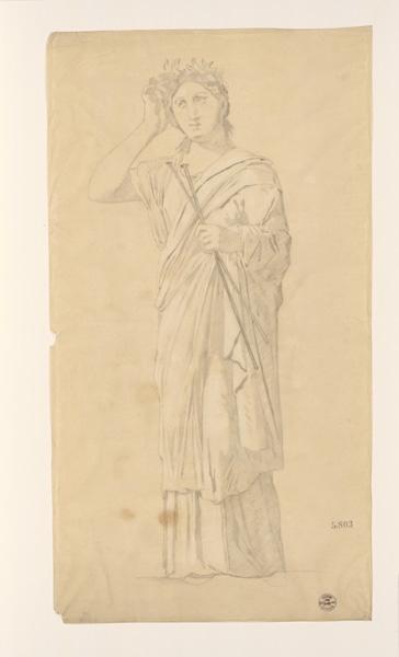 LENEPVEU Jules Eugène (dessinateur) : Monuments, figures : Figure de femme