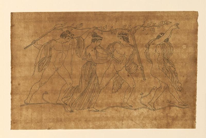 TURPIN DE CRISSE Lancelot Théodore Comte de (dessinateur) : Scène mythologique, Bacchanales