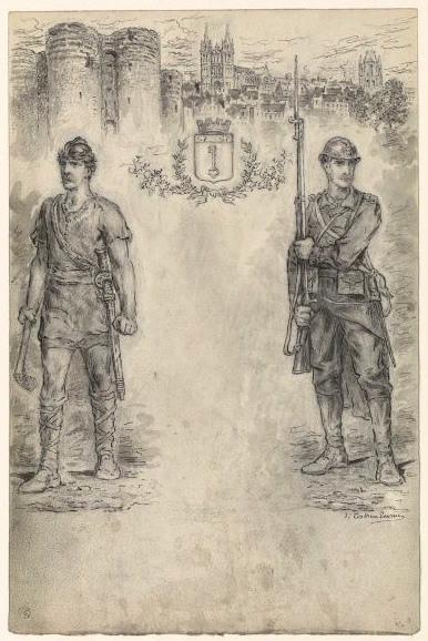 Soldat de la guerre 1914 et guerrier_0