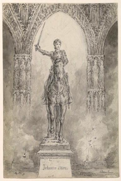 Jeanne d' Arc avec son armure