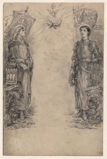 Sainte Geneviève et Jeanne d'Arc_0