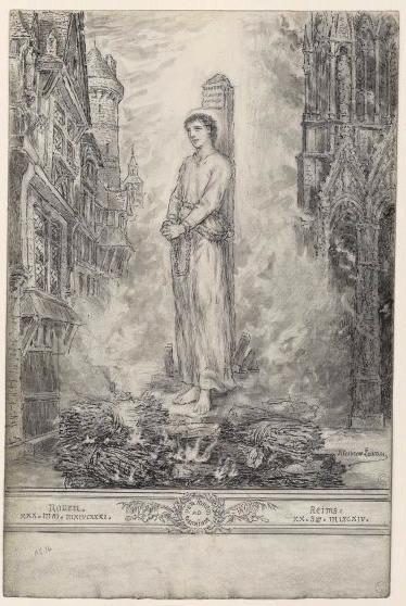 Jeanne d'Arc sur le bûcher_0