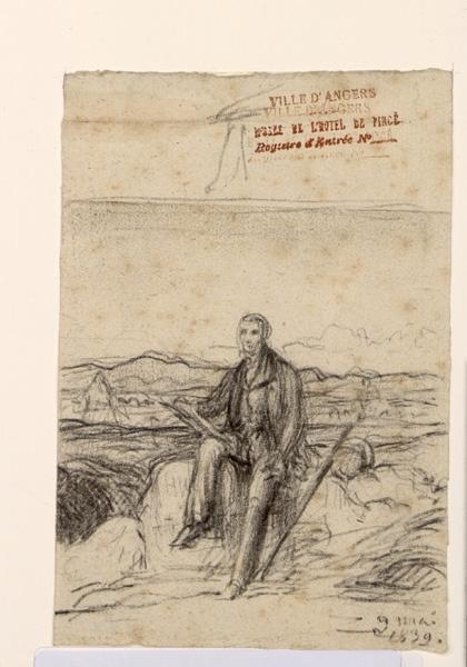 BODINIER Guillaume (dessinateur) : Artiste dessinant dans un paysage