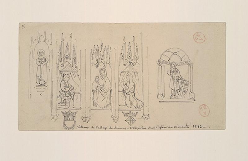 HAWKE Peter (dessinateur) : Vitraux de l'abbaye de Louroux