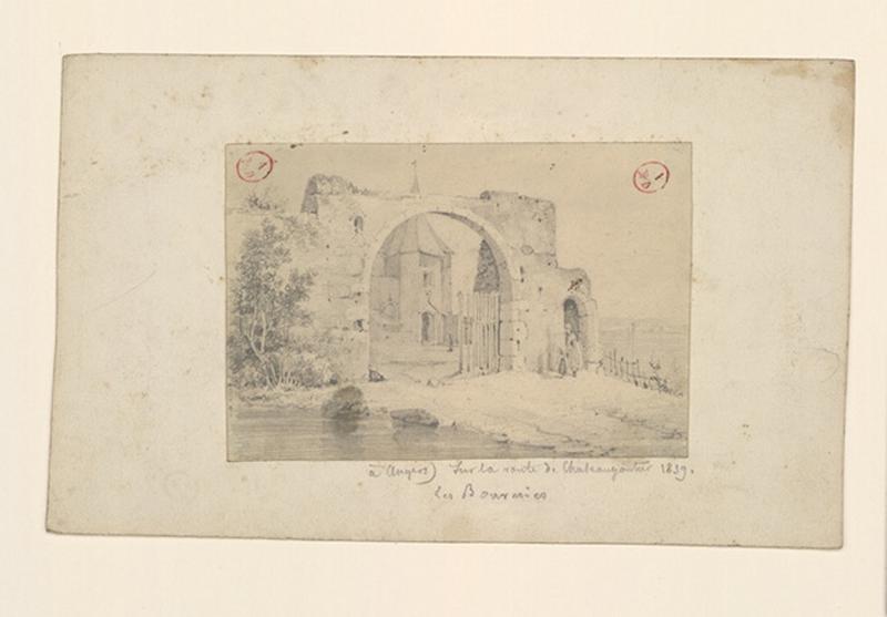 HAWKE Peter (dessinateur) : A Angers, sur la route de Château-Gontier