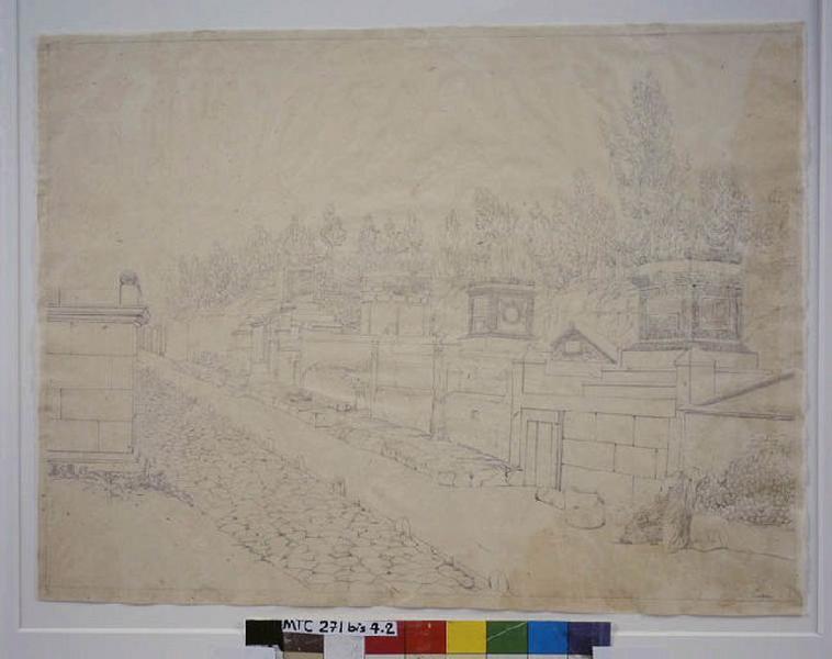 TURPIN DE CRISSE Lancelot Théodore Comte de (dessinateur, peintre) : Voie des tombeaux à Pompei