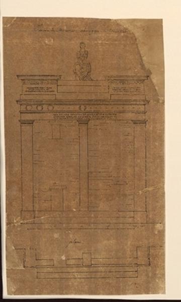 TURPIN DE CRISSE Lancelot Théodore Comte de (dessinateur, peintre) : Facade du monument choragique de Thrasillus