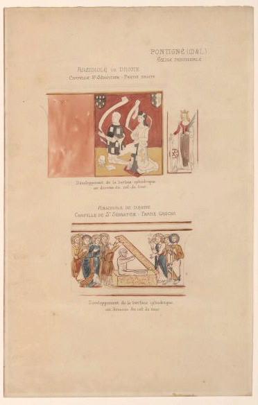 Peintures murales de l'église de Pontigné