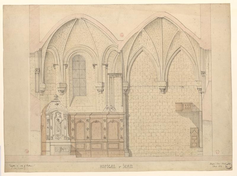 MAILLARD Auguste Alfred (dessinateur, architecte) : Chapelle de l'hôpital Saint-Jean