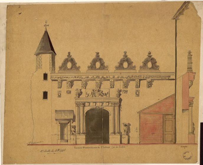 Musée Saint-Jean. Construction d'un portique