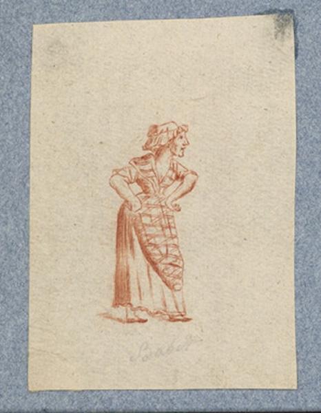 anonyme : Costume d'acteur dans Mme Angot : Babet