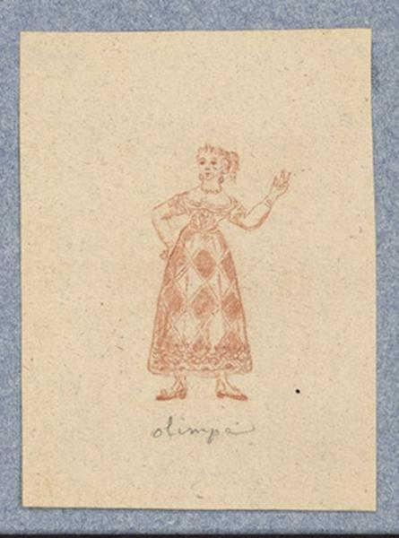 Costume d'acteur dans Mme Angot : Olimpia
