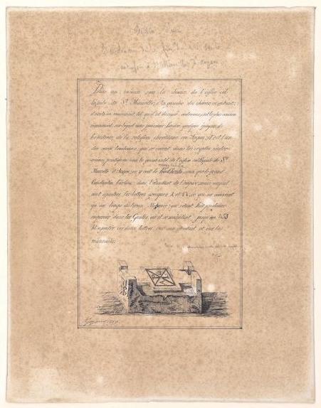 JOYAU U (dessinateur), AUDOUYS Joseph (d'après, inventeur) : Tombeau du IVe siècle