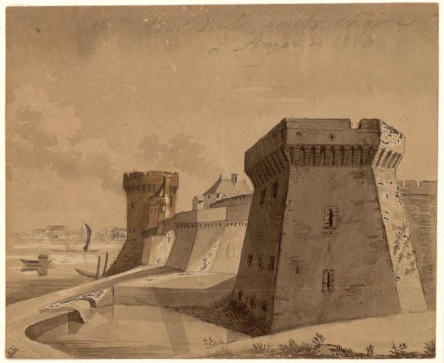 Tour de la Haute-Chaîne à Angers, en 1860_0
