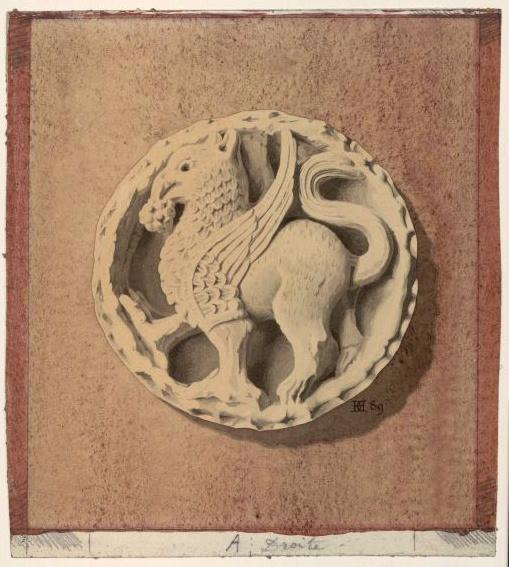 Clé de représentant saint Jean ; Clé de voûte de l'abbaye de Vézelay