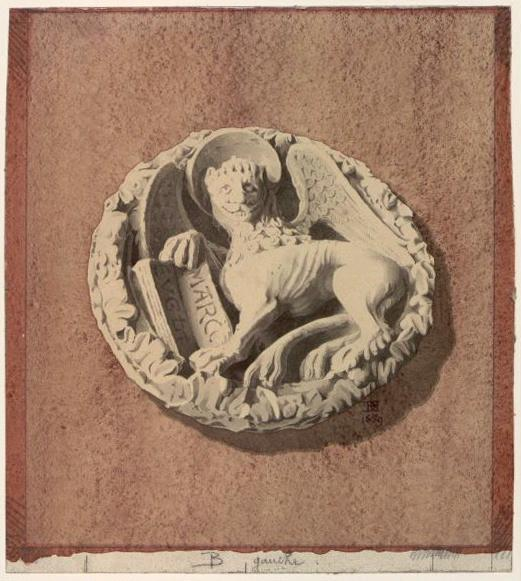 DEGEORGE Antoine Hector (architecte) : Clé de représentant saint Marc, Clé de voûte de l'abbaye de Vézelay