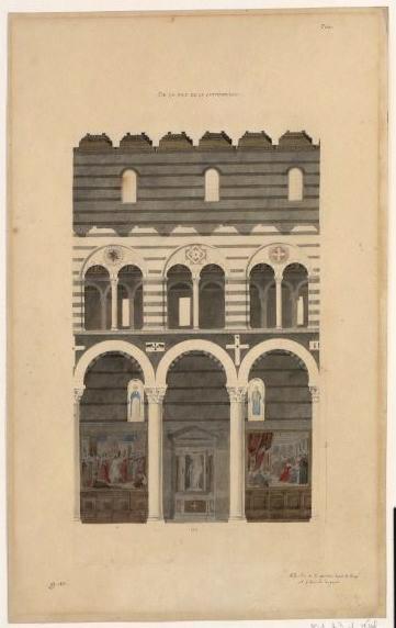 Cathédrale de Pise. Elévation intérieure de la nef