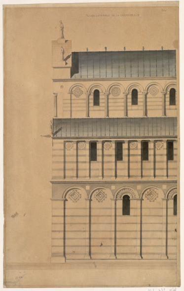 Cathédrale de Pise. Elévation de la façade sud_0
