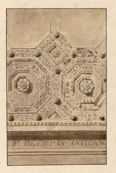 Caissons du plafond de la basilique Saint-Pierre de Rome_0