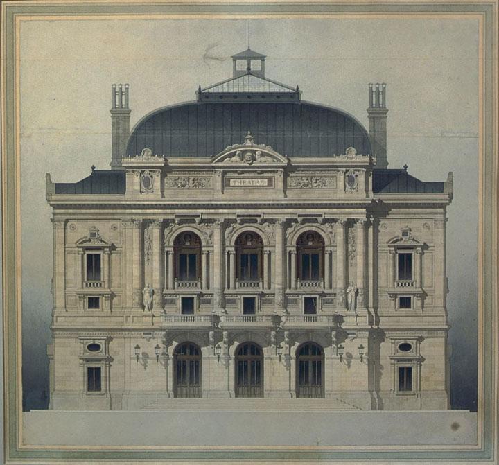 Projet du théâtre des Célestins, Lyon, facade_0